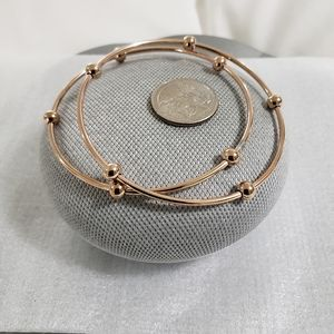 Stainless Steel Rose Gold Bead Bracelets (2)